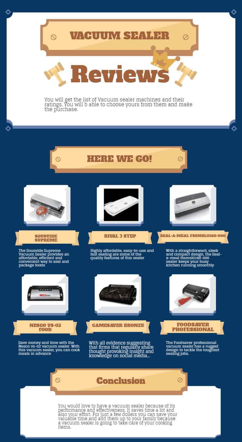 vacuum sealer infographic