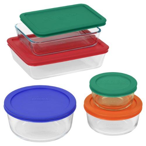 Pyrex Simply Store 10 Piece Glass Food Storage Set