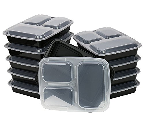 Chefland 3 Compartments Microwave Safe Food Container