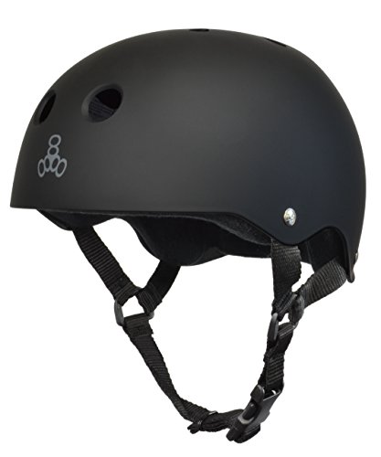 Triple 8 Brainsaver Rubber Helmet With Sweat Saver Liner