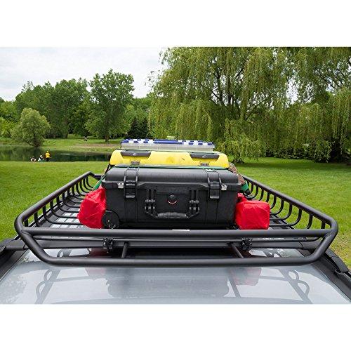 Apex RB-1512 Black Car Top Roof Rack Carrier Mesh Basket