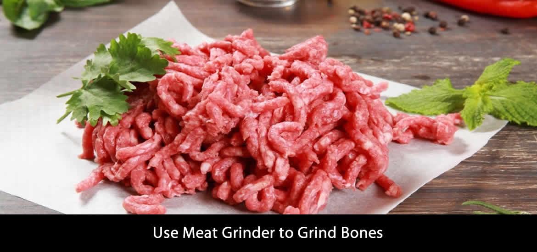 Use Meat Grinder to Grind Bones