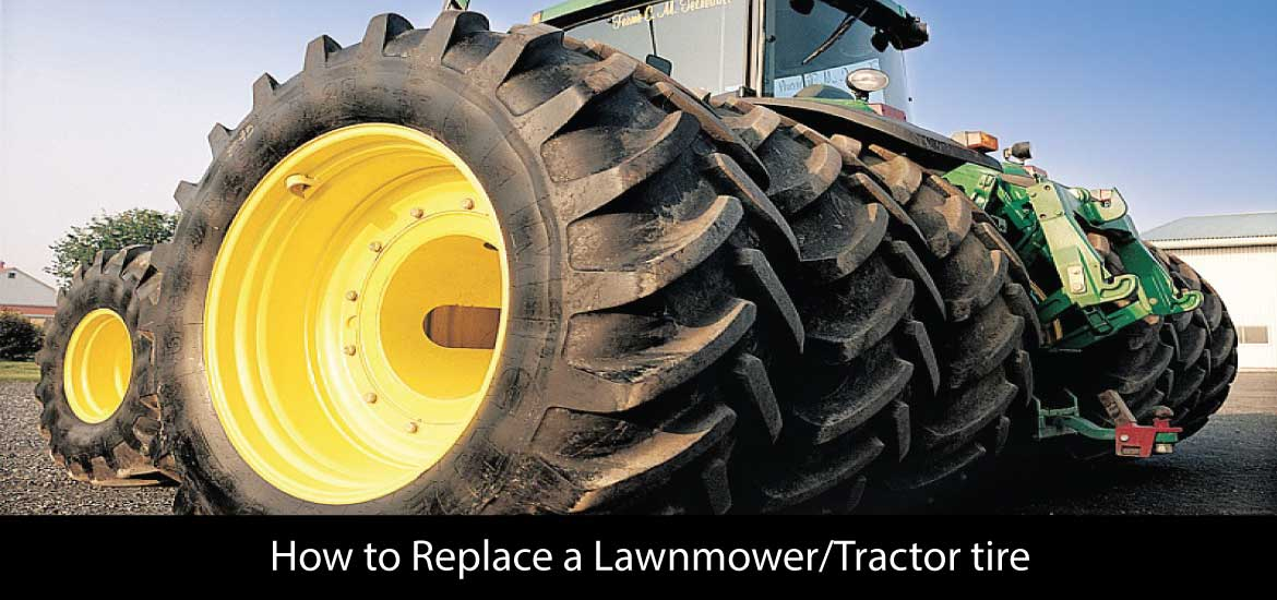 How to Replace a Lawnmower/Tractor tire